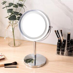 LED Beleuchtet Doppel Schminkspiegel Make up Spiegel Kosmetikspiegel 10-fach DE