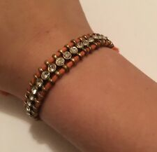 Costume Jewelry Bracelet Signed J Crew Adjustable - Rhinestone