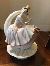 Vintage Porcelain Ballerina Swan Music Box Figurine Sigma Taste Setter