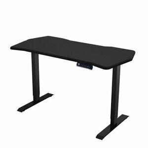 Carbon Fiber Electric Height Adjustable Standing Office 55 inch Desk - Black