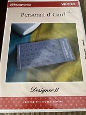 husqvarna viking designer II Personal  d card  New!