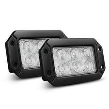 Nilight LED Light Bar 2PCS 18W Spot Flush Mount Off Road Work Light Driving Lamp