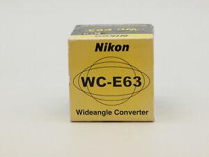Nikon WC-E63 0.63x Wide Angle Converter Lens for Coolpix Cameras