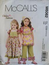 McCall's Chelsea Andersen pattern M6062 Girls' Top, Dress, Pants  sz 2 - 5 uncut