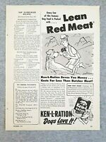 1949 Magazine Advertisement Page Ken-L Ration Lean Red Meat Canned Dog Food Ad