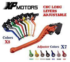 CNC Long Adjustable Brake Clutch Levers For Suzuki GSX-R1100 1993-1998 94 95 96
