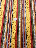 Fabri-quilt Take Me Home 100 % Cotton fabric Quilting Craft Floral Stripe Heart