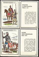 POLAND 1966 Matchbox Label - Cat.G#165/80 set, 1,000 years of Polish Arms.