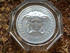 Rosenthal Versace Medusa Glass Coaster Clear Brand New