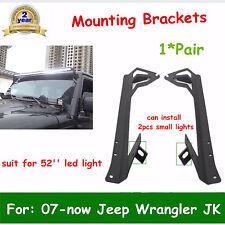 Windshield Mounting Bracket fit 07-Now Jeep Wrangler JK 52'' LED Light Cube Pods