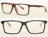 Square Nerd Brille Streber Klarglas Hornbrille filigran schwarz tortoise 471