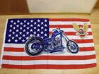 Fahne Flagge USA Motorrad Harley Neu - 90 x 150 cm