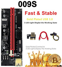 More details for pci-e riser card pcie leds 1 to 16 usb 3.0 cable gold