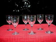 BACCARAT MOLIÉRE 6 SAKÉ SET SHOT GLASSES 6 VERRES CAVE A LIQUEUR CRISTAL TAILLÉ