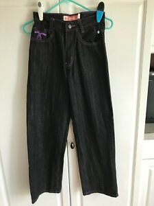 NWOT Pair Girls Attitude Jeans Size 10 Style 98550 Dark Blue Purple Accents