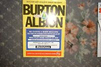 Programme Burton Albion v Morecambe 1987