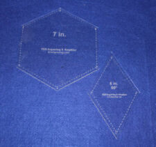 Quilt Templates-2 Piece Specialty- Hexagon/Diamond Set -1/8""