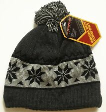Mens / Womens Seirus Innovation Warm Dry Beanie Hat Cap Snow Falls Flakes Nordic
