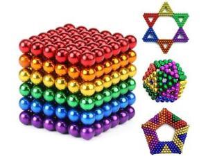 222Pc New 5mm Dia Nickel Rainbow Polishing Ferrite Ball Magnetic Permanent Buck*