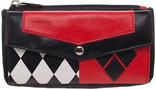 DC Comics Harley Quinn Front Flap Clutch Wallet With Zippered Change Compartment