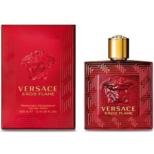 Versace Eros Flame Perfumed Deodorant Spray for Men 3.4 oz Sealed