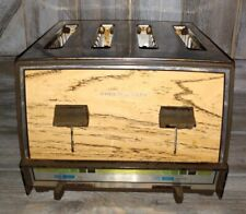 Vintage Proctor Silex T009N 4-Slice Toaster Wood Grain excellent condition