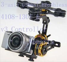 3-axis Brushless Gimbal Kit w 3x 4108 Motor for Sony NEX ILDC Camera MINI DV