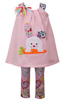 Bonnie Jean Baby Girls Easter Pageant Bunny Knit Clothing Set 12M 18M 24M