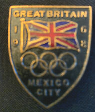 1968 Mexico City Summer Olympic Games Great Britain Noc pin