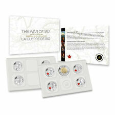 2012 Canada War of 1812 Uncirculated 9 Piece Coin Set