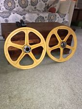 "Vintage Skyway Tuff Wheels II,  Mag Wheels 20"" Old School BMX yellow"