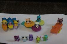 Littlest Pet Shop Teeniest Tiniest Lot: Mini Pets Teensies bird cat frog rides