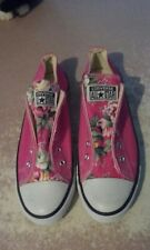 womens converse all star canvas pink with floral print sneaker shoes size 6