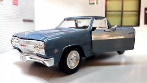 1:24 Maquette Chevrolet El Camino V8 Pickup Ute Camion 1965 maisto Bleu 1:25