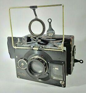 Antique ICA Bebe Model A Folding Strut Camera + Zeiss Triotar 7.5cm f/3.5 Lens