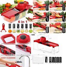Mandolina cortador rallador picador verdura,etc,Sin BPA,6 cuchillas acero inox