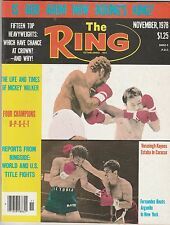 THE RING MAGAZINE ALEXIS ARGUELLO BOXING HOFer-VILOMAR FERNANDEZ NOVEMBER 1978