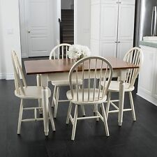 Farmhouse Design 5-piece Spindle Wood Dining Set with Leaf Extension