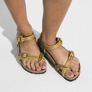 BIRKENSTOCK Taormina ocre 1019432 Fettleder Sandale normale Weite