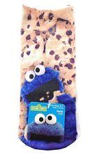 2 Pr Sesame Street Cookie Monster Photorealistic Anklet Socks Womens/Junior 9-11