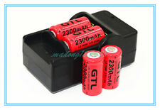 4x 2300mAh 16340 Rechargeable Li-ion Battery For LED Flashlight+CR123A Charger#3