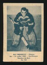 1952-53 Laval Dairy SUBSET #104 RAY FREDERICK -Goalie (Ottawa Senators) *Tough*