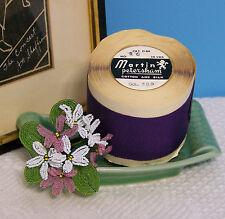 "BTY Vintage 2.0"" Purple Cotton Silk Grosgrain Ribbon Petersham Hat Millinery"