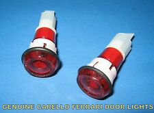 FERRARI 246 DINO 308 328 MONDIAL DOOR LIGHTS LAMPS ORIGINAL CARELLO x 2