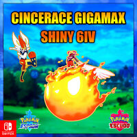 Cinderace Gigamax 🔥 Ultra Shiny 🔥 6 iv Pokémon ⚔ Sword & Shield ⚔ Inicial