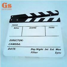 Acrylic Clap Clapper Clapperboard Board Director TV Film Movie Slate black/white