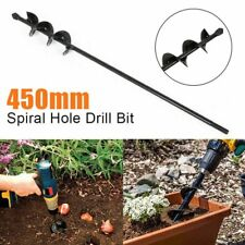 18'' Planting Auger Spiral Hole Drill Bit For Garden Yard Earth Bulb Planter US