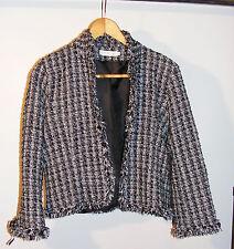 Joli veste chic noir et blanche taille 4 (40/42) « cache cache »