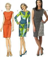 Misses' Ruched-Waist Dresses Pattern Butterick B6166 14-16-18-20-22 Easy