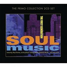 SOUL MUSIC - THE FIRST GENERATION - RAY CHARLES, JAMES BROWN, SAM COOKE 2CD NEU